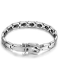 Womens Titanium Magnetic Therapy Link Bracelet With Magnets, Power Balance