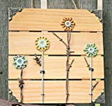 Recycled Pallet Wood and Faucet Flower Art with Hardware and Barbed Wire