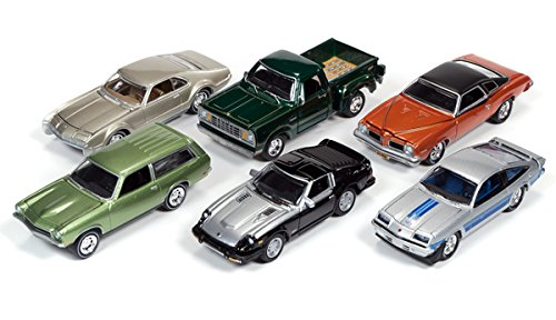 New 1:64 AUTO WORLD JOHNNY LIGHTNING CLASSIC GOLD COLLECTION - CLASSIC GOLD 2016 RELEASE 2B Diecast Model Car By Auto World Set of 6 Cars