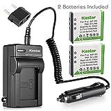 Kastar Battery (2-Pack) and Charger Kit for Fujifilm NP-50, Kodak KLIC-7004, Pentax D-Li68 and Fujifilm FinePix Cameras, Kodak EasyShare Cameras and Pentax Cameras (Detail Models in the Description)