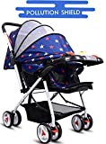 Little Olive Tweety Stroller Pram - Pollution Shield and Musical Food Tray - (Blue Stars) for Newborn Baby/Kids Stroller/Pram, 0-3 Years