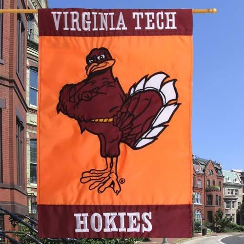 Evergreen Enterprises Virginia Tech Hokie Bird Applique House Flag - 28