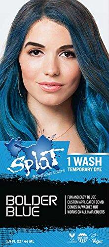 Splat 1 Wash Temporary Hair Dye (Bolder Blue)