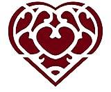 ANGDEST The Skyward Sword Heart (Burgundy) (Set of 2) Vinyl Decal Stickers - Premium Waterproof for Laptop Phone Accessory Helmet Car Window Bumper Mug Tuber Cup Door Wall Decoration