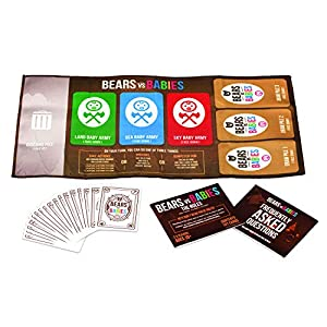 Bears vs Babies by Exploding Kittens – A Monster-Building Card Game – Family-Friendly Party Games – Card Games For…