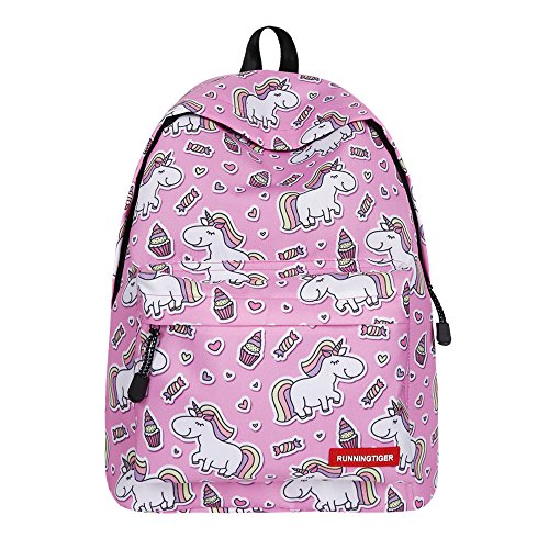 Apparel Backpacks Bags - Bookbag Unicorn, SWYIVY Pink Icecream Unicorn Gift Bags Unicorn Teens Student Laptop Backpack for Girls-Pink Icecream