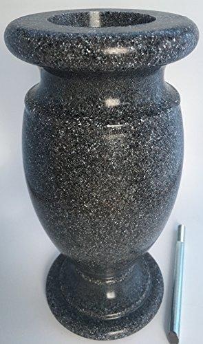 Optimum Memorial Cemetery Flower Vase (Simulated Black Granite Plastic)