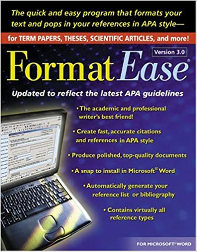 formatease version 3 0 paper and reference formatting software
