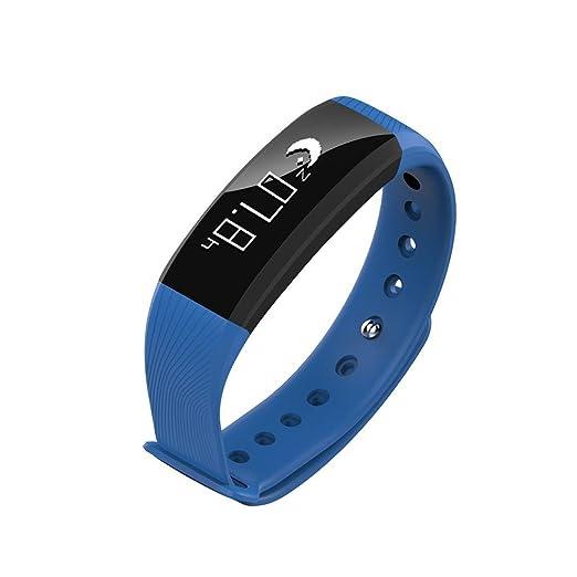 Xinxinyu Smart Watch, Resistente al Agua Smart Watch} {Tensiómetro Pulsómetro a Vitrina} {Pulsómetro Tracker Smart Watch}, Azul: Amazon.es: Deportes y aire ...