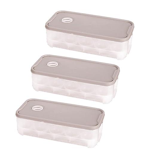 Pack de 3 baffect huevos puede dispensador Holder Nevera cajas de ...