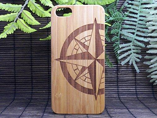 Compass Rose Iphone 5 5s Bamboo Case Tattoo Nautical Navigation