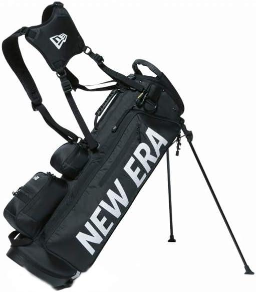ニューエラ キャディーバッグ New Era Golf 【ゴルフ】 キャディーバッグ スタンド式 ホワイトプリントロゴ [ベーシックポーチ付き] 11901502 ブラック
