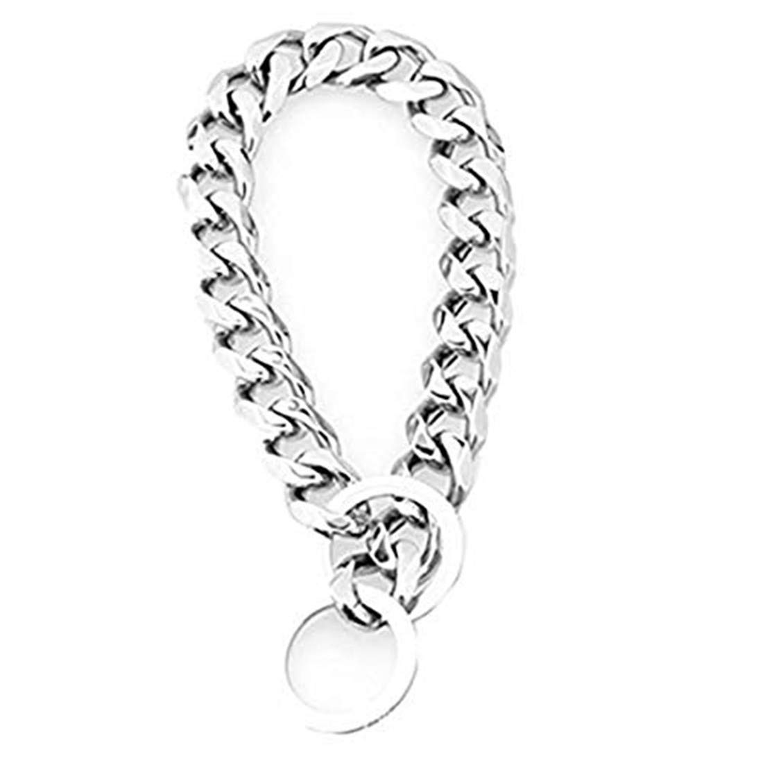 Heavy Metal 19mm Duty Solid Stainless Steel Dog Choke Chain Collar Pet Necklace for Pit Bull, Mastiff, Bulldog, Big Breeds 12 Inches-34 Inches (24inch Chain(Suggest Dog Neck 20inch))