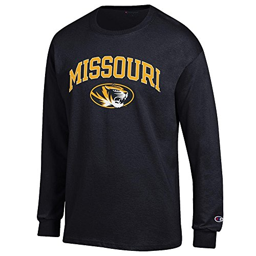 - Elite Fan Shop Missouri Tigers Long Sleeve Tshirt Varsity Black - XXL