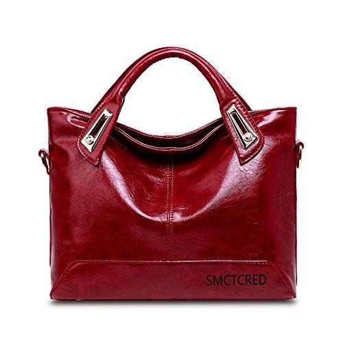 Fashion PU-Leder Echt ncient Möglichkeiten Öl Wachs Leder Weich Leder Vintage Tote Schultertasche Leder Umhängetasche Aktentasche Handtasche Hand Tasche Taschen Handtasche Tablet, iPad Tasche