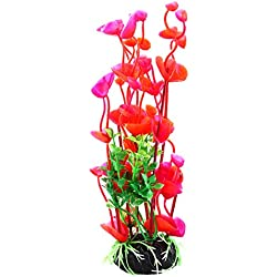Uxcell Aquarium Aquascaping Artificial Plants, 8-Inch, Red/Green