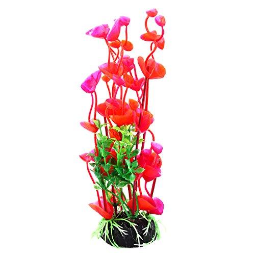 (uxcell Aquarium Aquascaping Artificial Plants, 8-Inch, Red/Green)