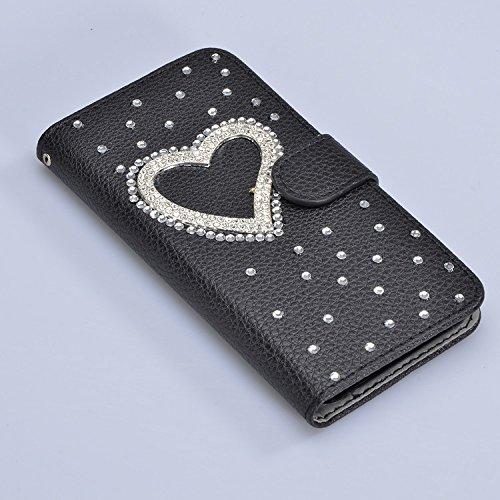 8e90ed992d5ab3 Samsung Galaxy A3 2017 Etui Housse Protection D écran Folio Hull Coquille  Couverture Couvrir,Vandot Flip PU Cuir Pochette avec Bling Diamant Crystal  Strass ...