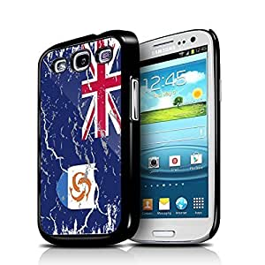 Anguilla Weathered Flag Samsung Galaxy S3 Black Cell Phone Case