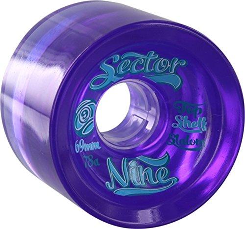 Sector 9 69mm 78a Top Shelf 9-Balls Purple Wheels (Set Of 4)