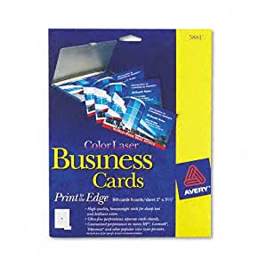 Amazon Avery Laser Business Cards 2 x 3 1 2