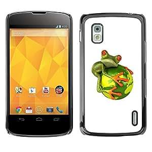 Be Good Phone Accessory // Dura Cáscara cubierta Protectora Caso Carcasa Funda de Protección para LG Google Nexus 4 E960 // Global Warming Extinction