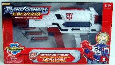 Transformers Energon Optimus Prime Energon Blaster Robots in Disguise - Transformers Optimus Prime Gun