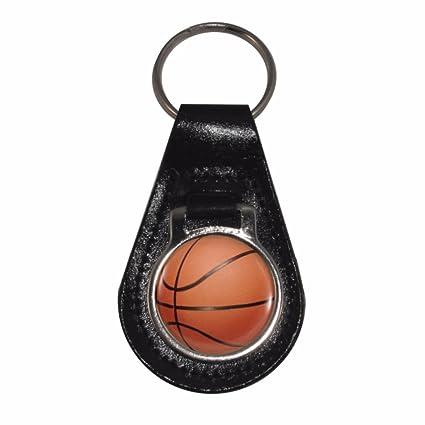 1StopShops Piel Llavero con diseño de balón de Baloncesto: Amazon ...