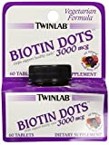 Twinlab Biotin Dots Mixed Berry Tablets, 3000 mcg, 60 Count