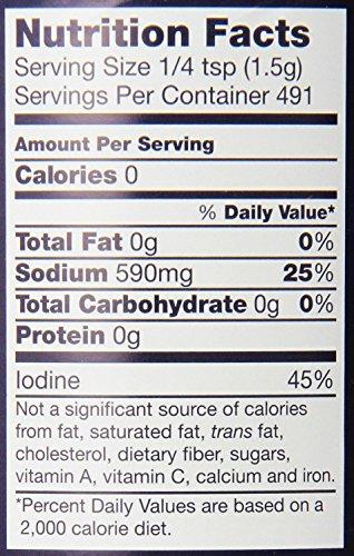 Morton Iodized Salt, 26 oz, Pack of 2