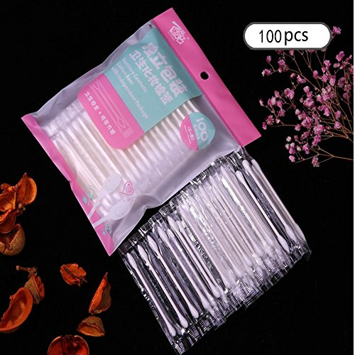 Individual Packaging Makeup Cotton Swabs 100pcs Double Tipped Versatile Cotton Tipped Applicators for Festival Gift