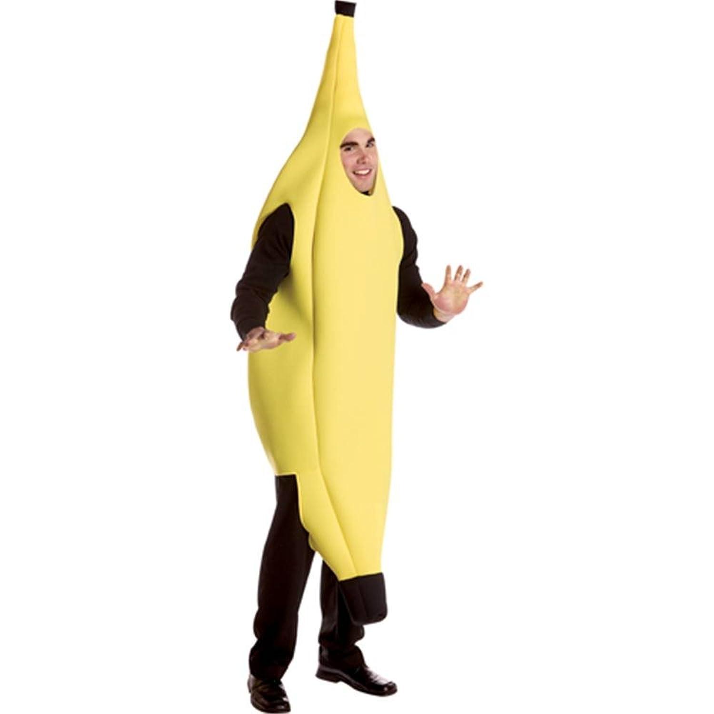 amazon com rasta imposta banana deluxe adult yellow one size