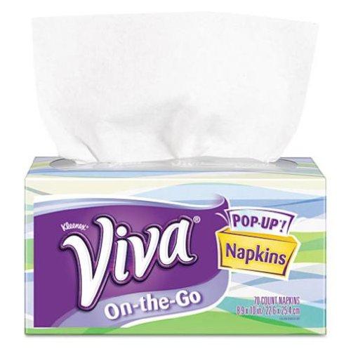 Viva Napkins 1 Ply White Pop Up
