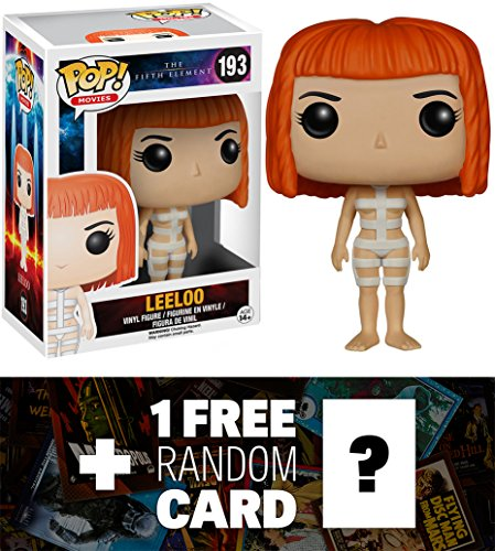 Leeloo (Straps): Funko POP! x The Fifth Element Vinyl Figure + 1 FREE Sci-fi & Horror Movies Trading Card Bundle [52201]
