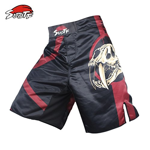 SUOTF Black Skull Fear Fierce Fighting Breathable Fitness Boxing Pants Tiger Muay Thai MMA Kickboxing MMA Boxing Shorts