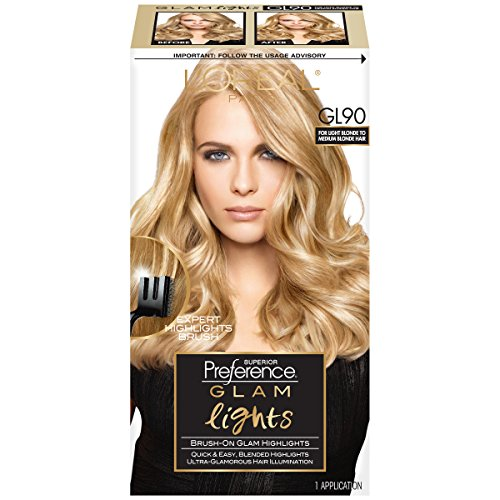 Blonde Highlights (L'Oreal Paris Superior Preference Brush On Glam Highlights, GL90 Light Blonde to Medium(Packaging May)