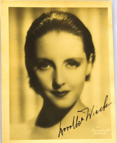c.1920s - Dorthea Wieck Autographed 5.5x7 Vintage Paramount Photograph - Signed in Fountain Pen - Swiss Born Actress - Valencia / Cradle Song / No Greater Love / Unholy Intruders - Song The Intruder
