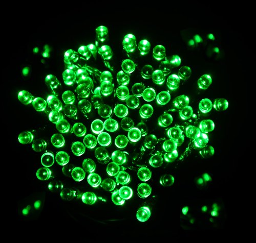 proxima direct 100 led 17m green solar powered fairy light waterproof garden outdoor