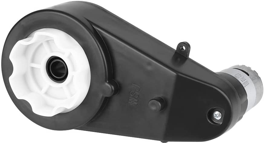 Akozon Caja De Engranajes Del Motor Eléctrico Motor Eléctrico, Caja de Cambios para Ruedas Eléctricas de Niños para Ruedas Eléctricas de Coche(12V 30000RPM)