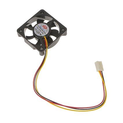 MagiDeal Ventilador de CPU Partes de Ordenador Portátil de 12V Compatible con 3 Pin de Refrigeración