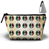 ZZATAA Clutch Handbag Mexican Flag Peace Sign HandBag Pouch Portable Storage Bag