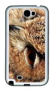 case spec owl head TPU White case/cover for samsung galaxy N7100/2