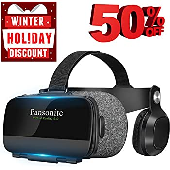 a67c6eb75d5 Pansonite Virtual Reality Headset with HD Glass Lens