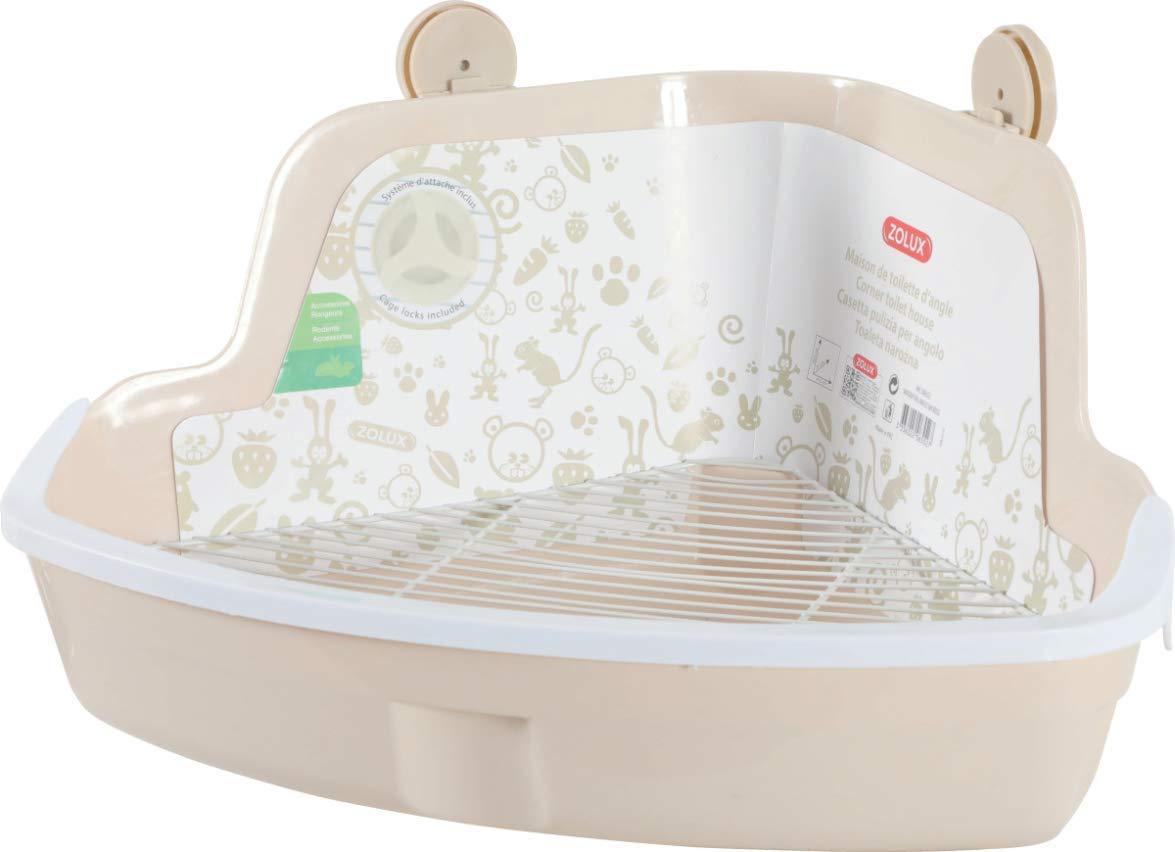 ZOLUX Jaula-baño para roedores, diseño en ángulo, Color Rojo, 41,5 ...