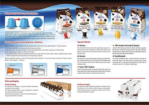 Nespresso Compatible Capsules 60 Meseta Intenso Capsules of Gourmet Italian Espresso Compatible with Nespresso Machine .