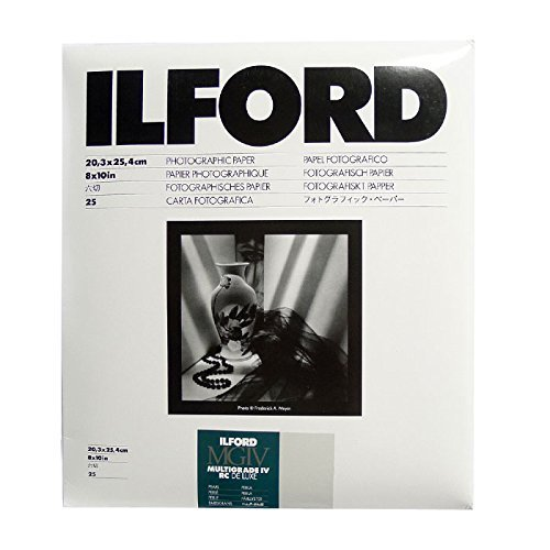 - Ilford Multigrade IV RC Deluxe Resin Coated VC Variable Contrast Black & White Enlarging Paper - 8x10