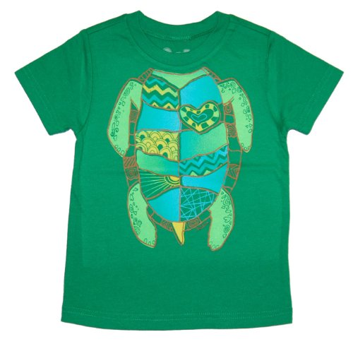 Peek-A-Zoo Toddler Become an Animal Short Sleeve T shirt - Turtle Kelly Green (4T)
