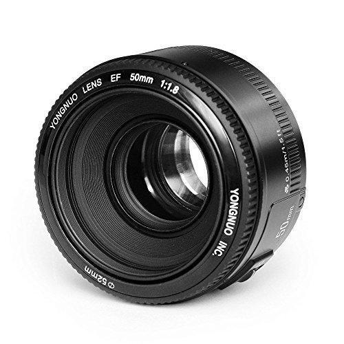 Yongnuo YN50mm F/1.8 Lens Large Aperture AF Lens in Black For Canon EOS Rebel Digital Camera by YONGNUO