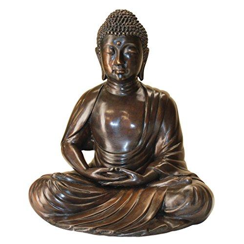 Design Toscano Buddha Garden Statue, Cast Bronze