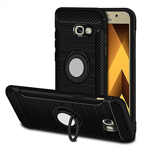 Ok Accessories Samsung Galaxy A5 2017 Funda, Anillo Soporte Funda de Coche 360 Grados de Rotacion Carcasa con Magnetic Base...